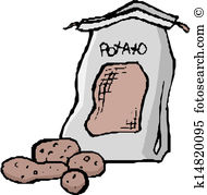 Potato sack Clipart EPS Images. 114 potato sack clip art vector.