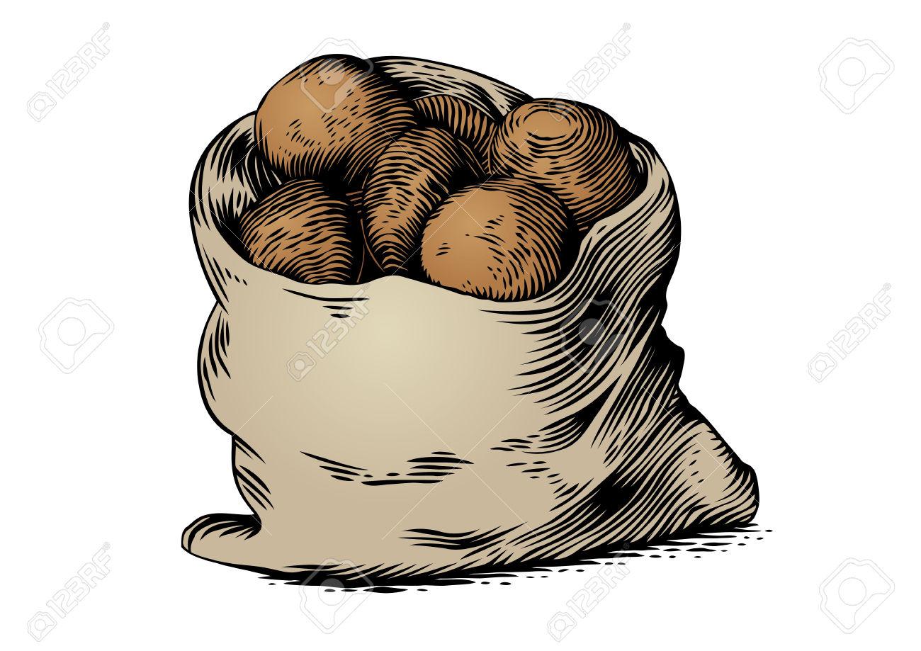 Potato sack clipart.
