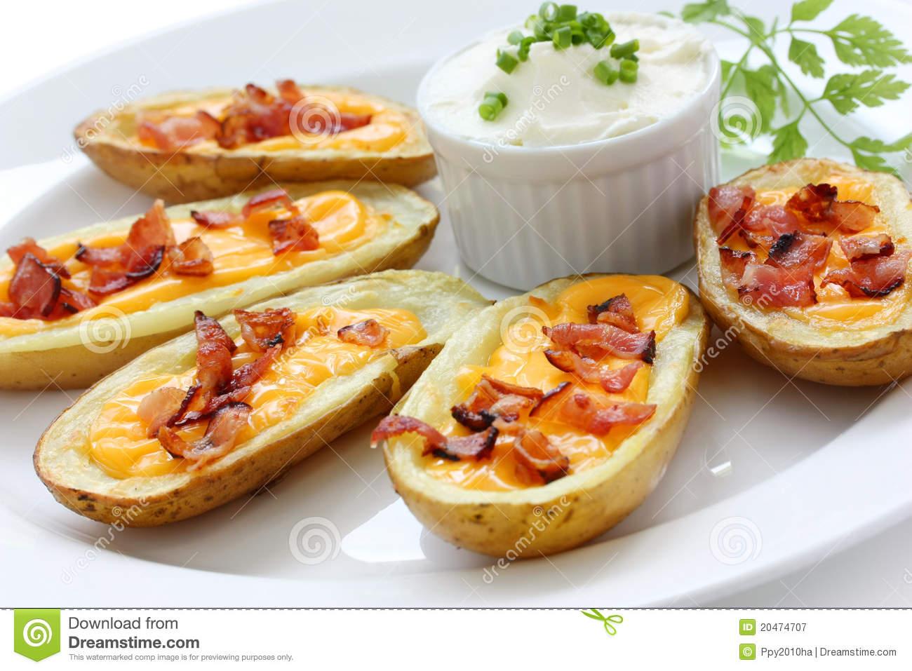 Potato Skins , Appetizer Royalty Free Stock Photography.