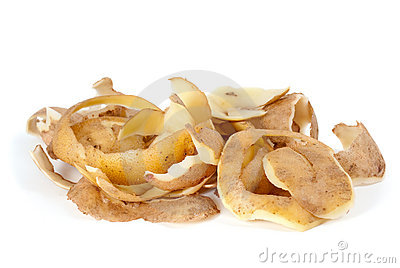 Some Potato Peel Royalty Free Stock Image.