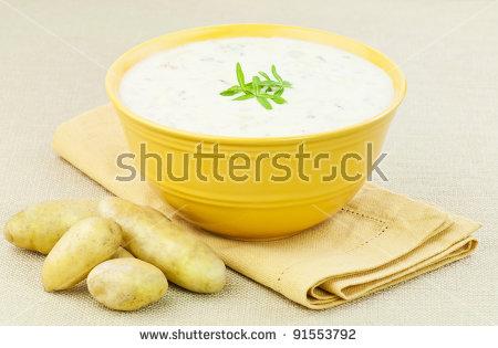 Potato Soup Stock Photos, Royalty.