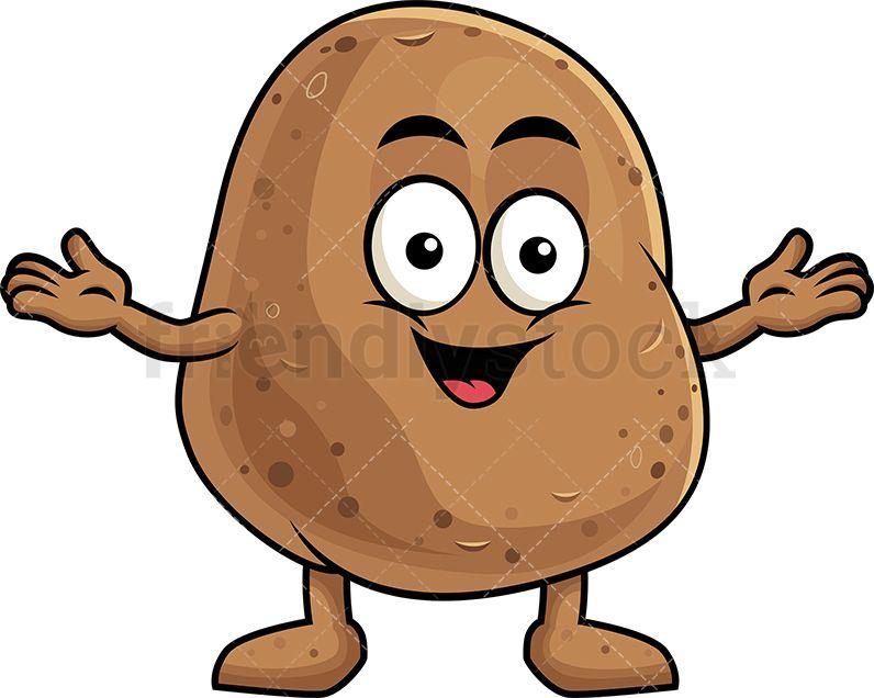 Happy Potato Mascot.