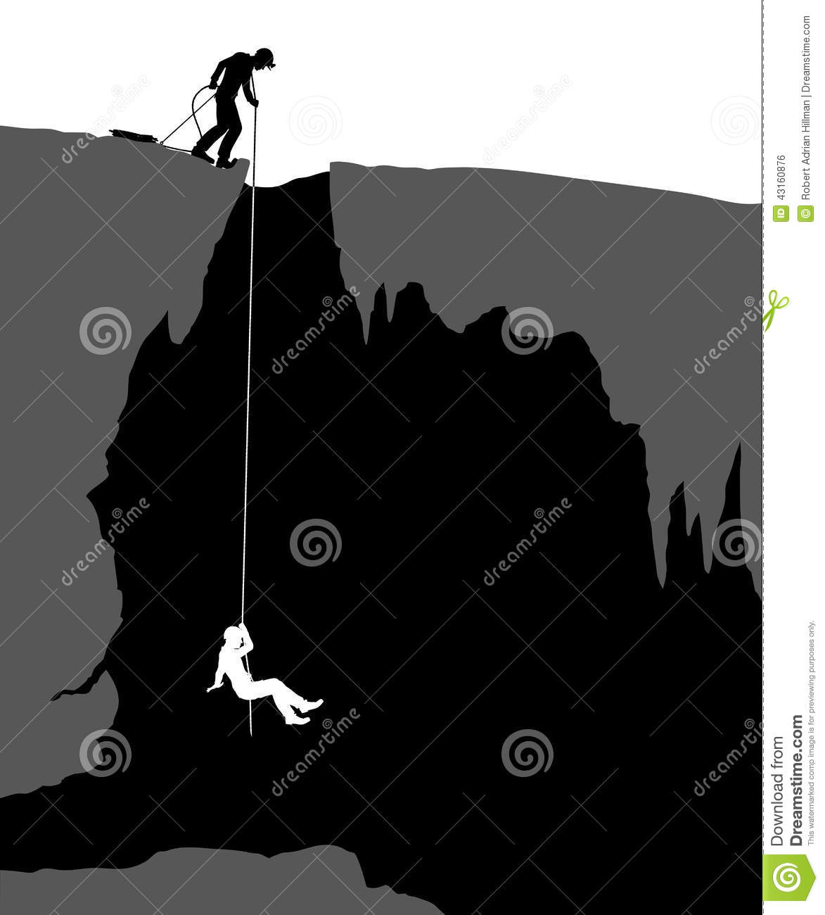 Cavers Stock Vector.