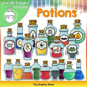 Potion Bottles Clip Art in 2019.