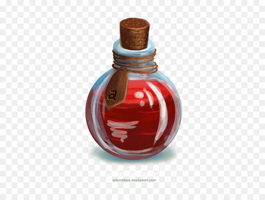 Potion Glass Bottle png download.
