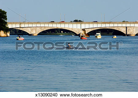Stock Photography of Bridge over a river, Potomac river.