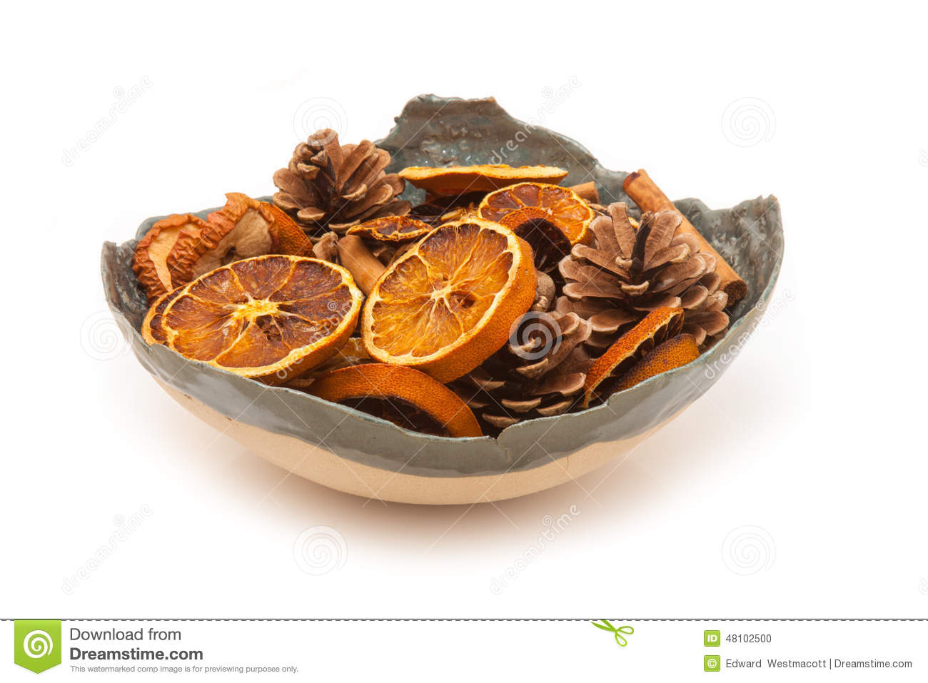 Bowl Of Potpourri Stock Photo.