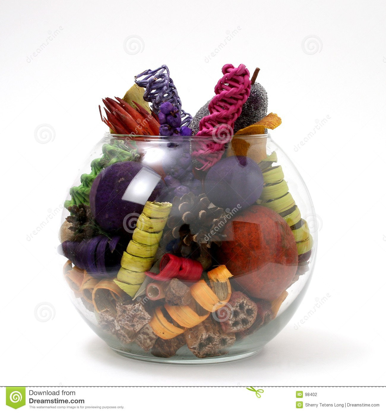 Potpourri Bowl Stock Photo.