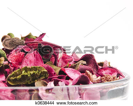 Stock Photo of Closeup of potpourri bowl k0638444.