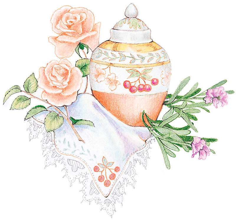Potpourri Recipe Old Rose and Lavender.