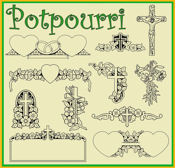 Potpourri 44 Vector Clipart by recycledstuff2u on Etsy.