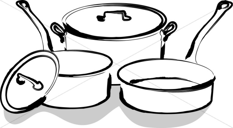 Cafeteria Pots and Pans.
