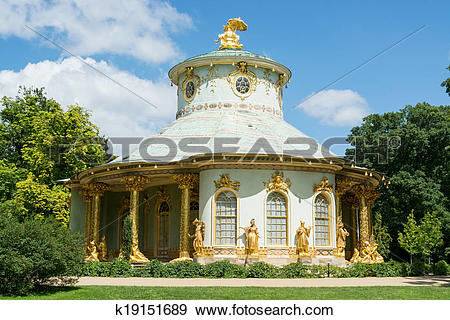 Stock Photograph of Overview of the Chinese house, Sanssouci.