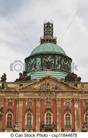 Picture of The New Palace of Sanssouci royal park in Potsdam.