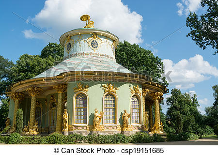 Pictures of Overview of the Chinese house, Sanssouci. Potsdam.