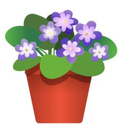Potted flower clipart.