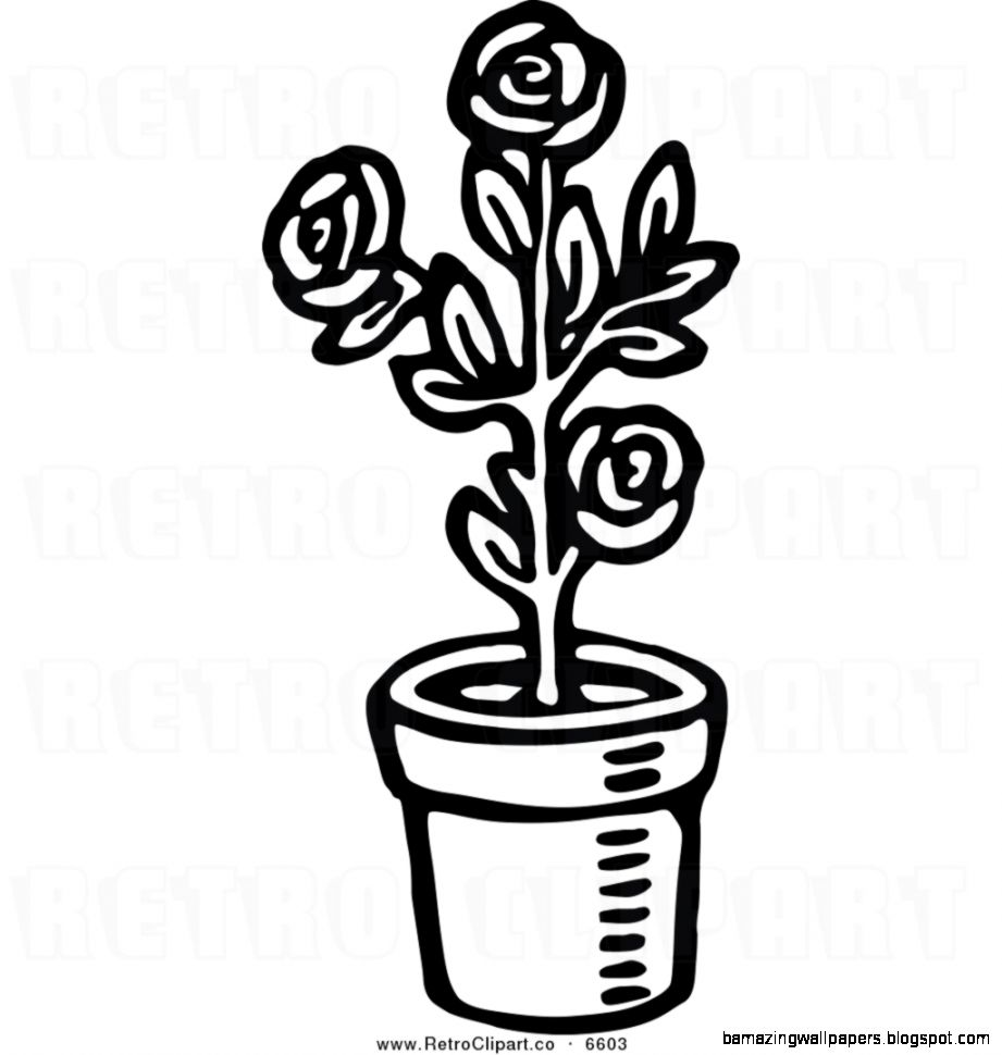 Plant Clip Art Black And White.