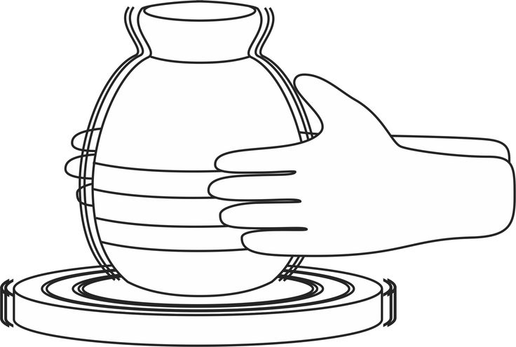 Jeremiah: Potter's wheel coloring page.