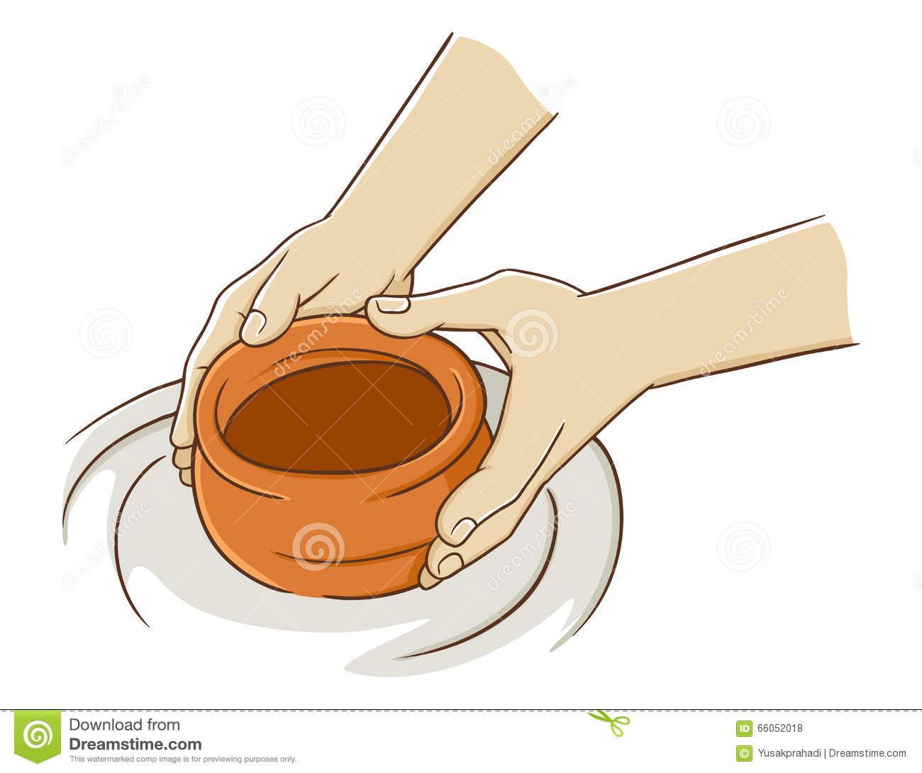 Potters Hands Clipart.
