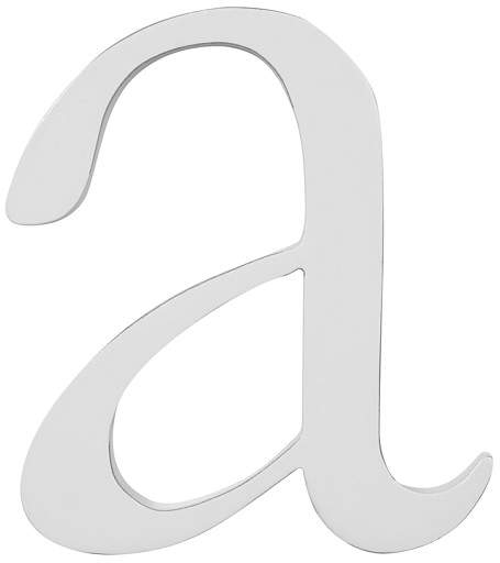 Lowercase Letter, Simply White, A.