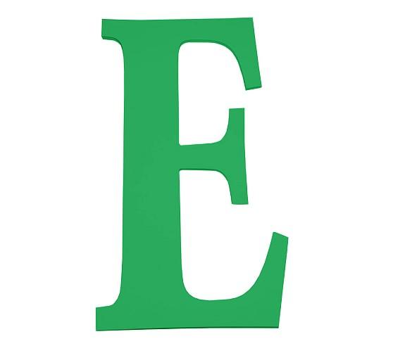 Large Harper Letter E, Green.