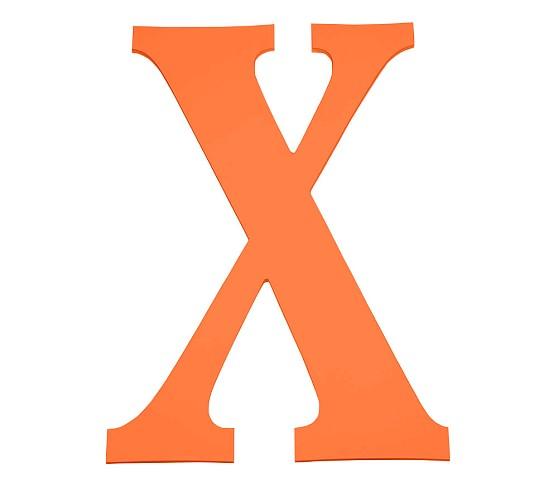 Large Harper Letter X, Orange.