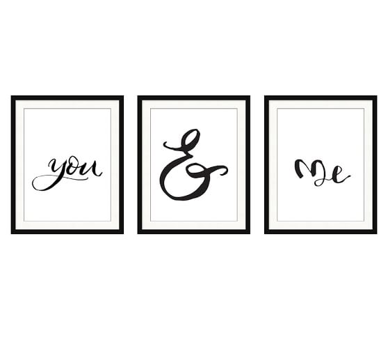 You & Me Triptych Print, Set of 3.