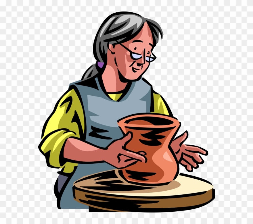 Pottery Clipart Potter\'s Wheel.