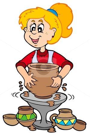 Pottery Cartoon Clipart.