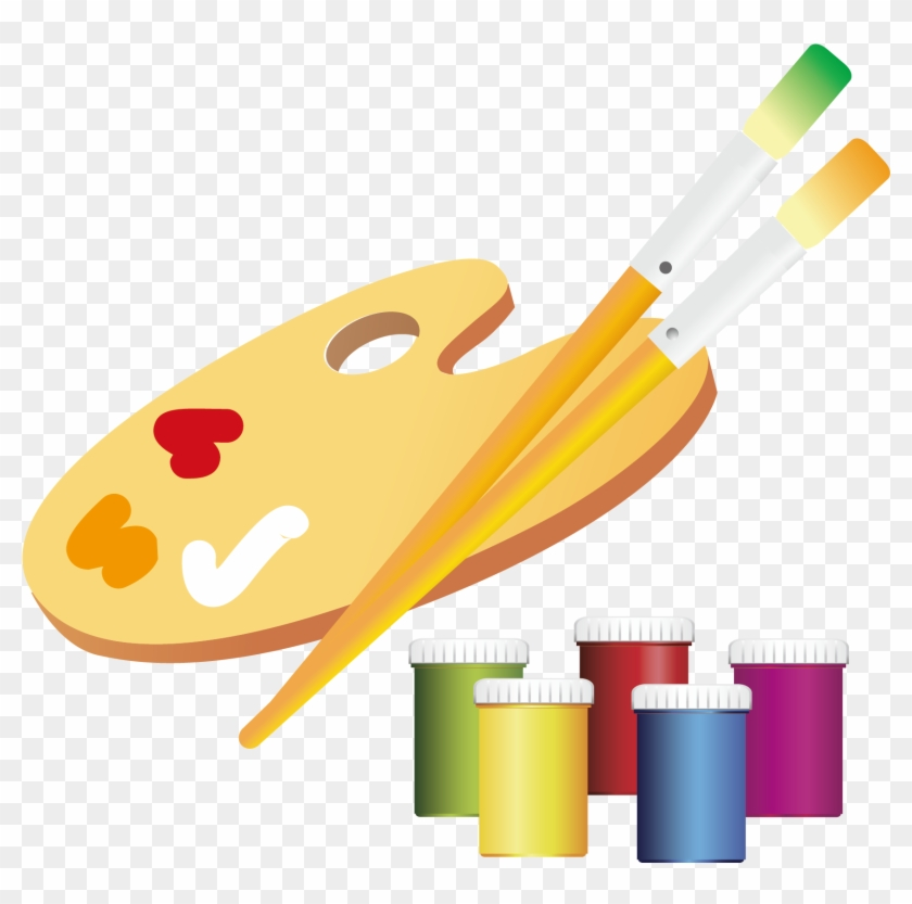 Paintbrush Clipart Pottery Painting.