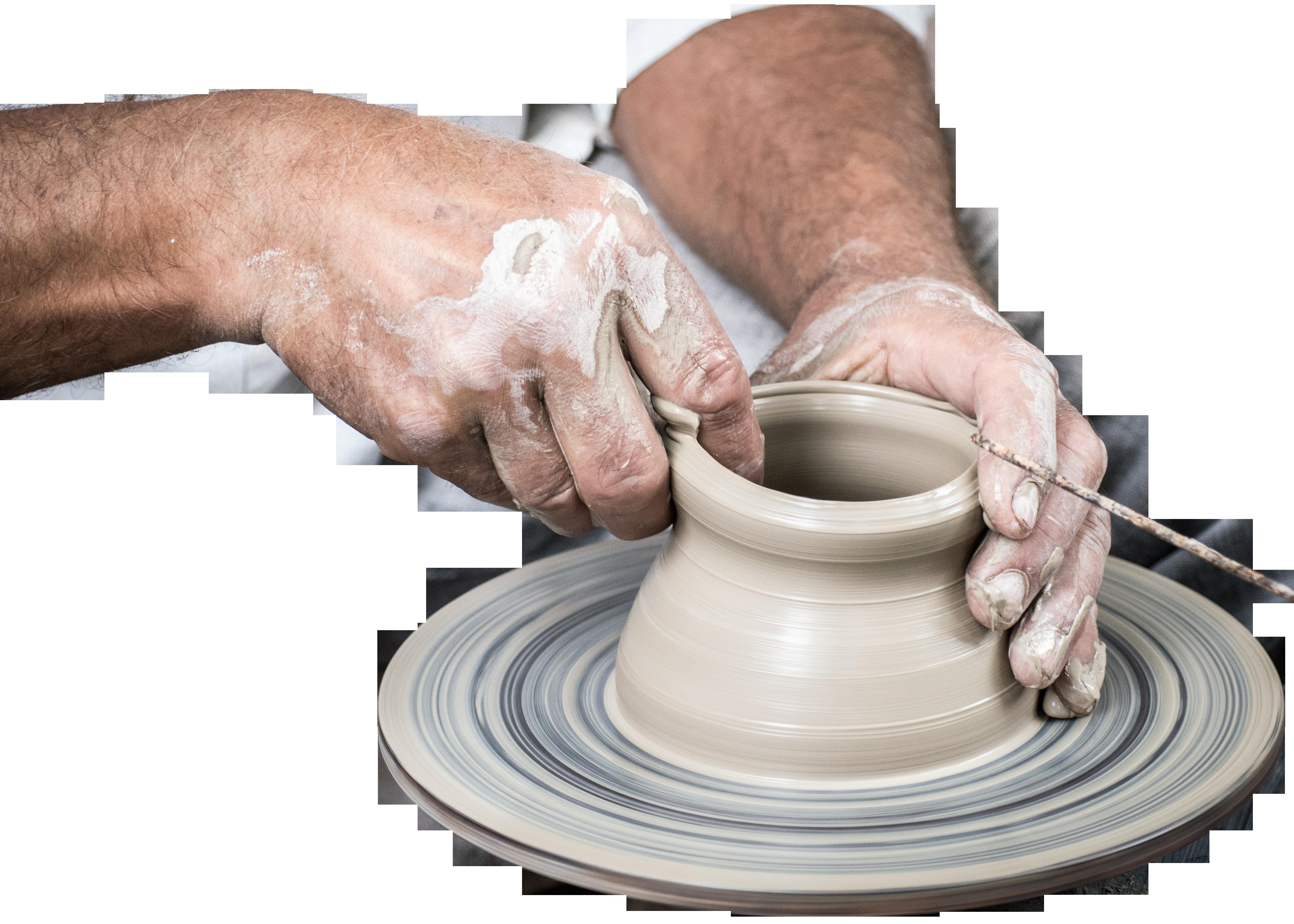 Handmade Vase Pottery PNG Image.