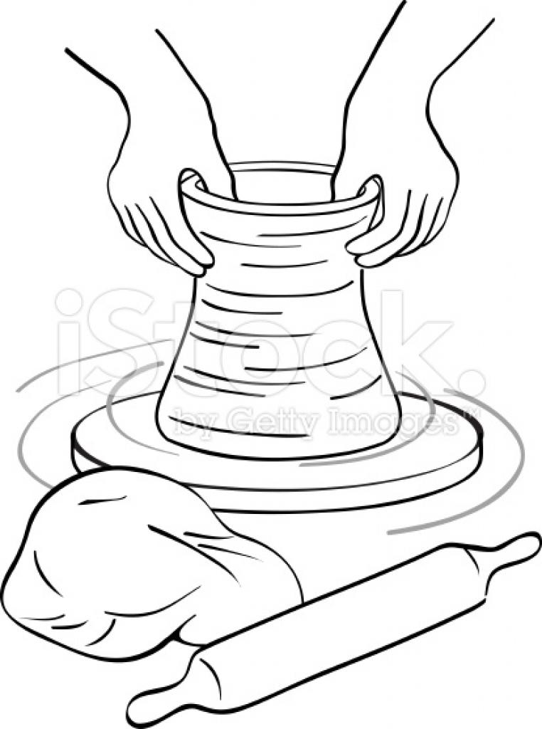 Clay potters wheel stock vector art 36614702 istock High.