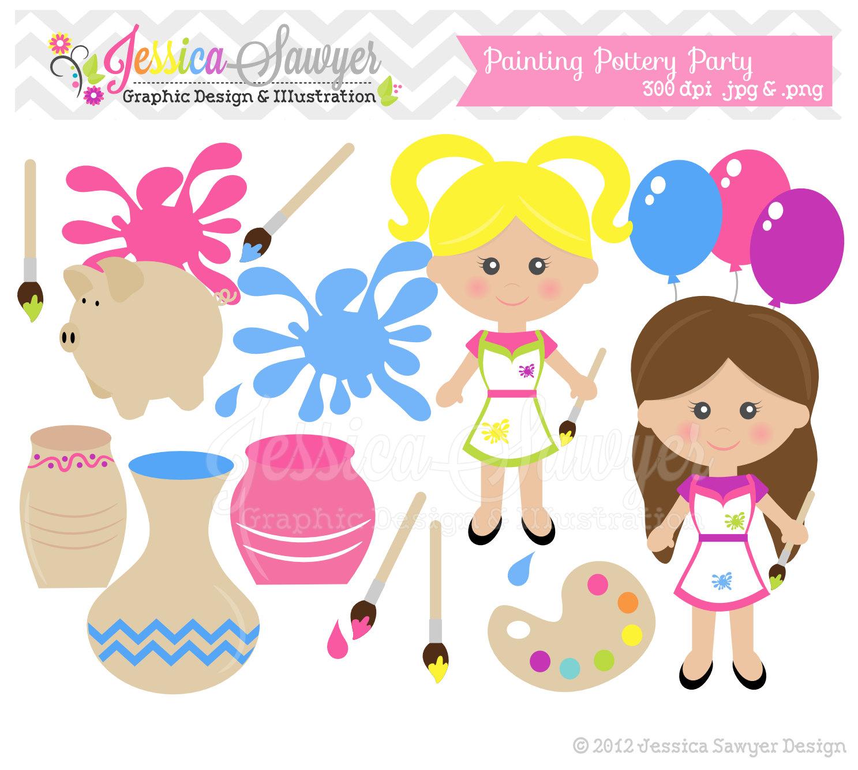 paint party clipart #19