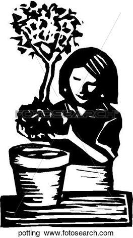 Clipart of Potting potting.