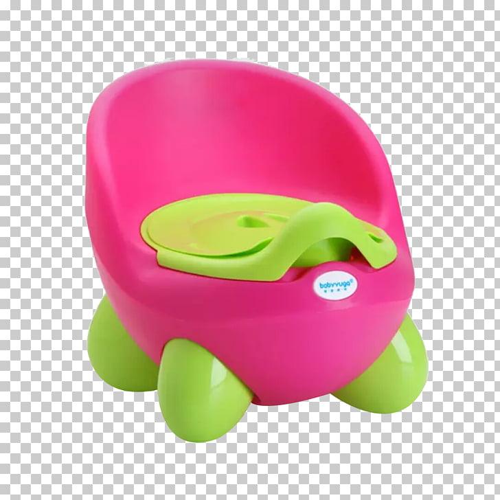 Toilet training Potty chair Fuchsia Child, Pink green toilet.