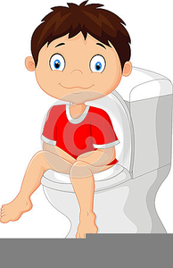 Going Potty Clipart.