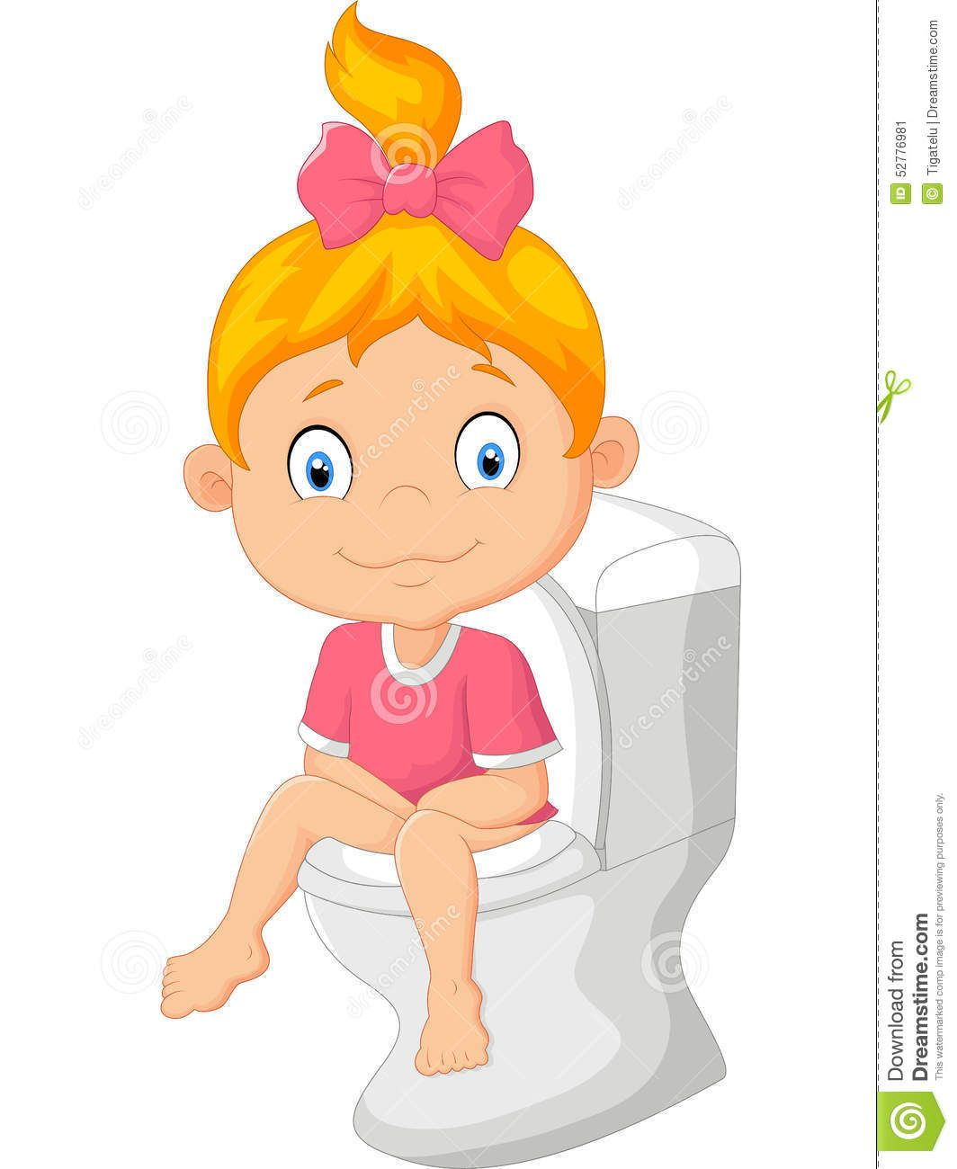 Image result for potty girl cartoon.