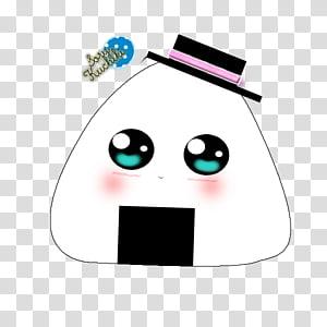 White pou hat illustration transparent background PNG.