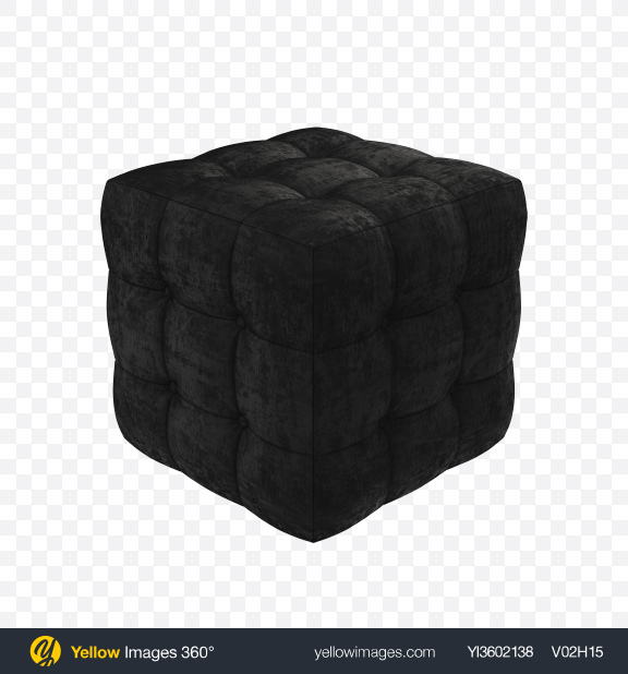 Download Black Pouf Transparent PNG on Yellow Images 360°.