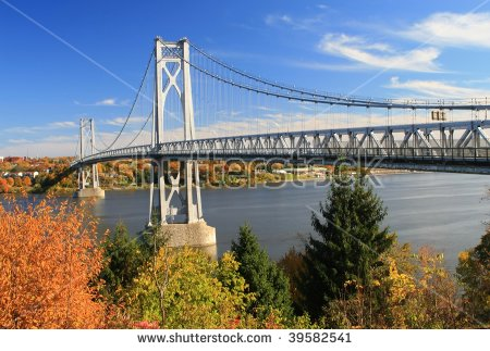 Mid Hudson Bridge At Fall Looking Across The Hudson River From.