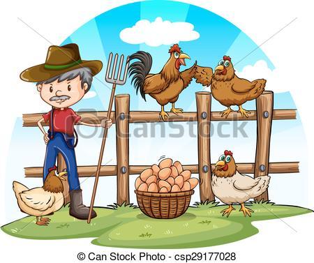 Poultry farm clipart.