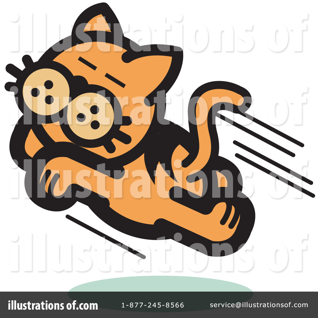 Pounce Cat Clipart #14446.