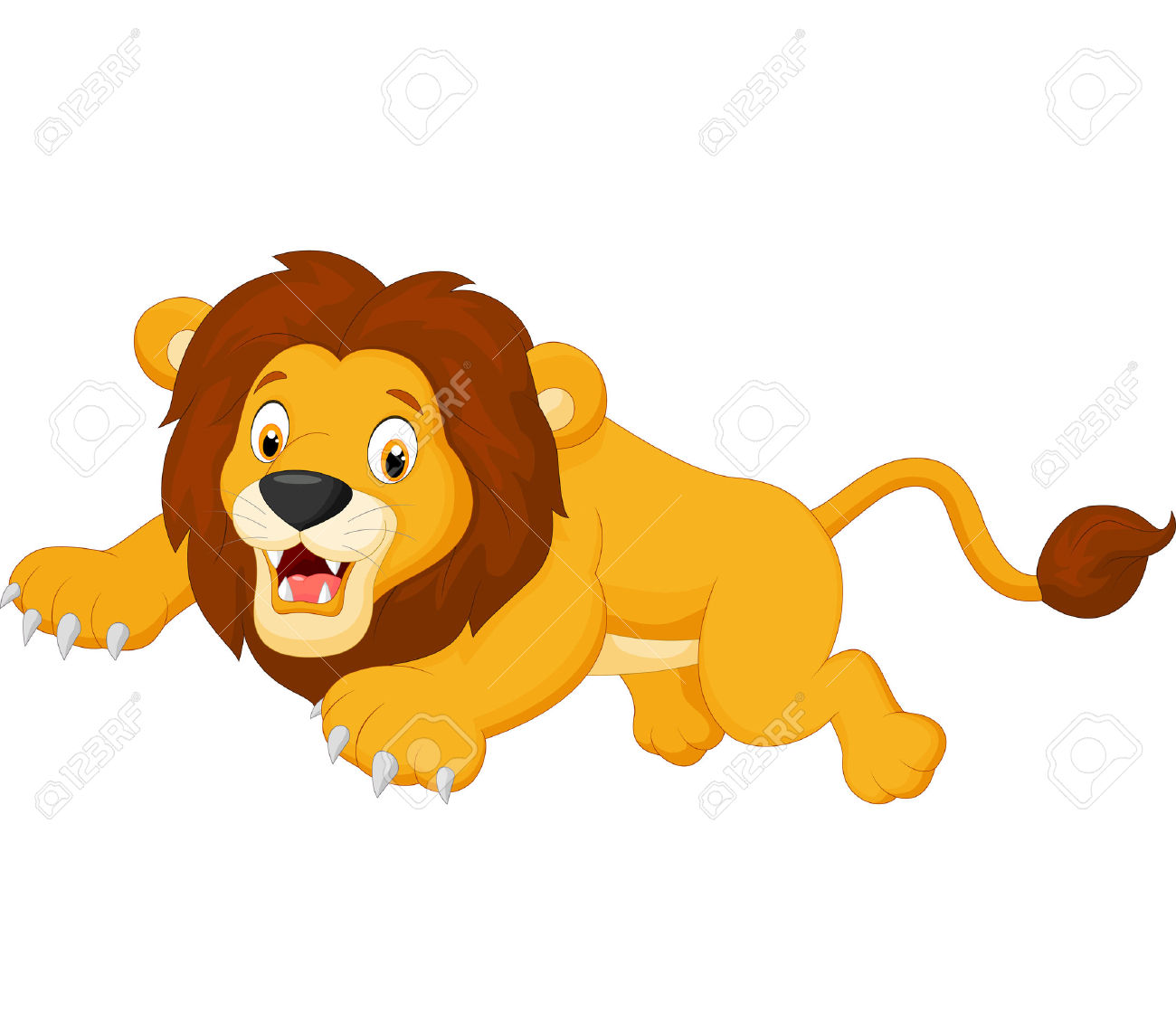 Showing post & media for Cartoon lion pouncing.