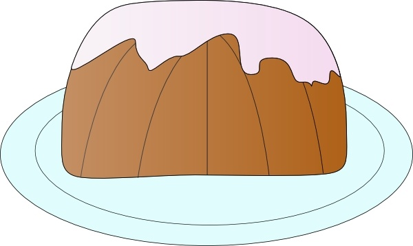 Pound Cake clip art Free vector in Open office drawing svg ( .svg.