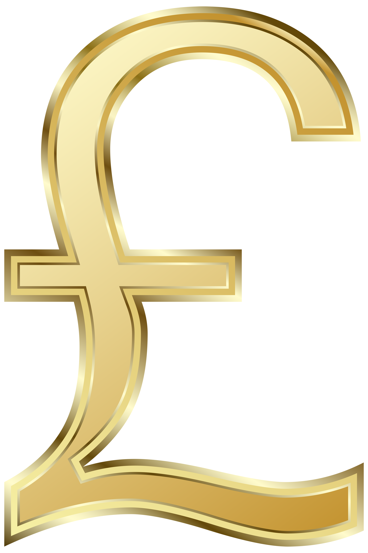 British Pound Symbol PNG Clip Art Image.