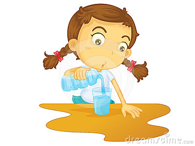 Pouring Water On Someone Clipart.