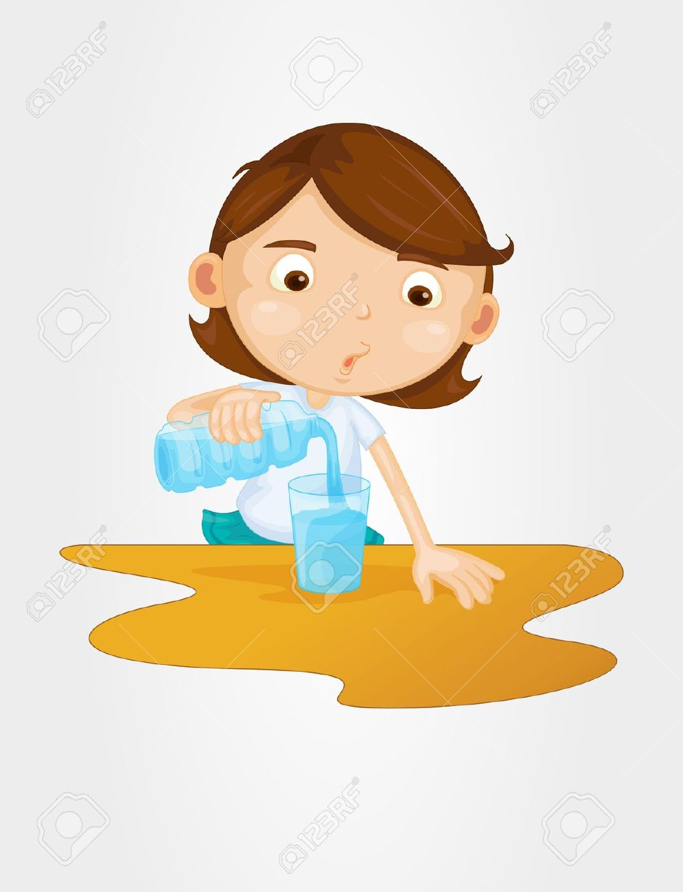 Pour water clipart.