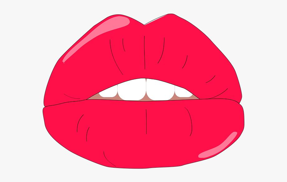 Lips Pout Kiss Female Lips Big Lips Vector Lips, Cliparts.