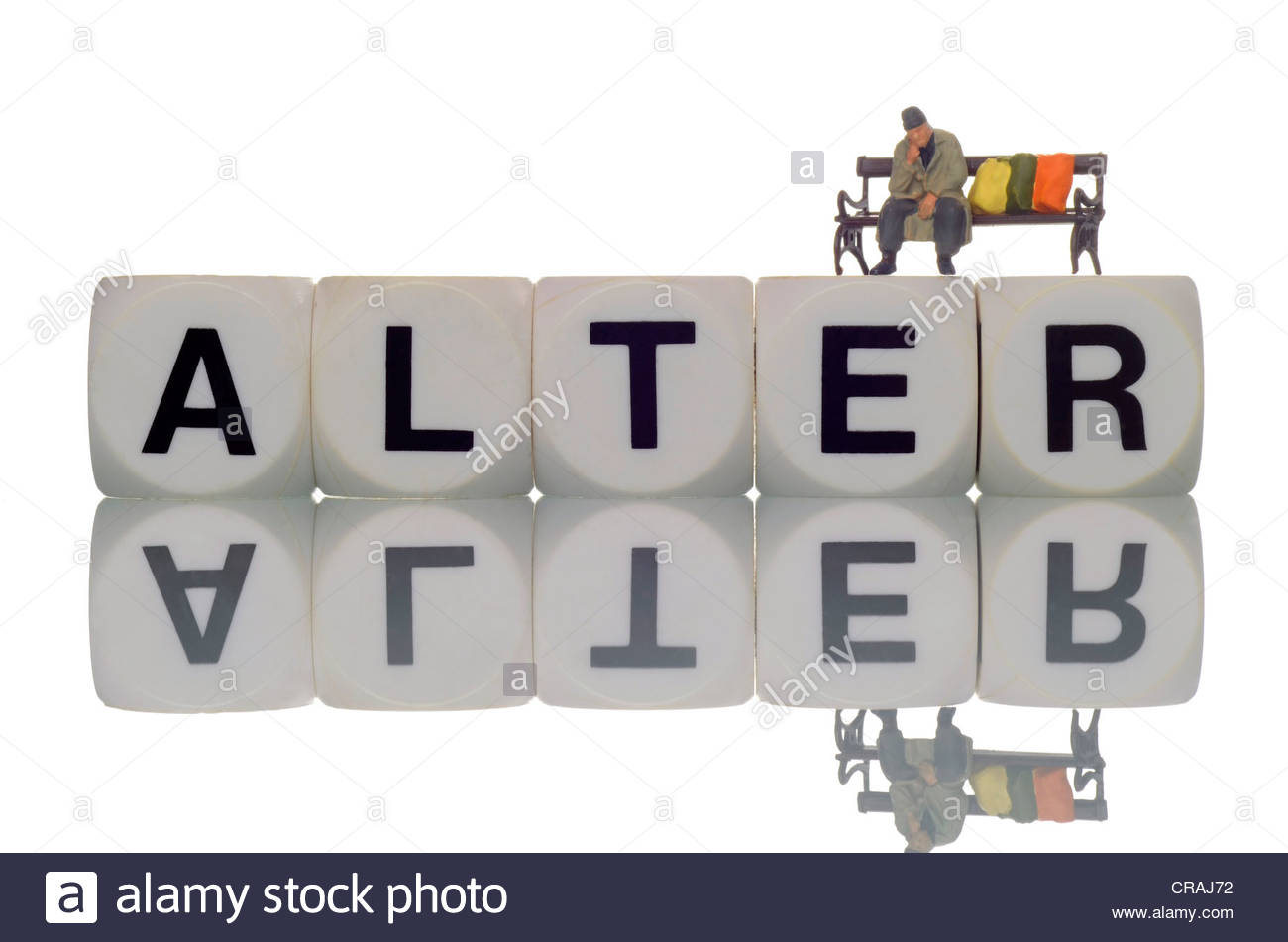 """Homeless Person, Figurine, Sitting On Letter Stone Writing """"alter."""