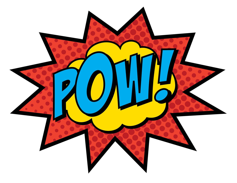Comic Book Bam Pow Clip Art free image.
